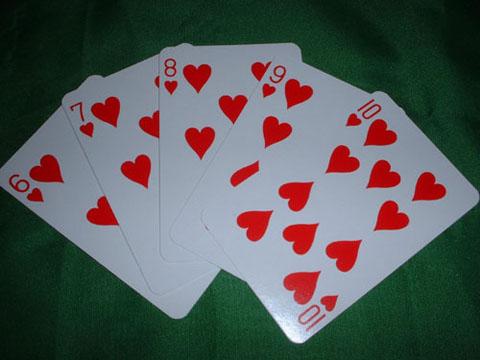 Straight flush odds 3 card poker
